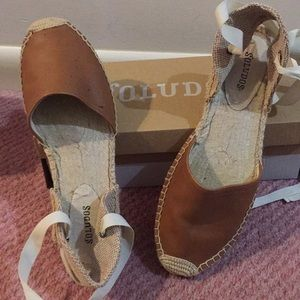 Soludos Sandal Espadrille:Tan Leather Size 9